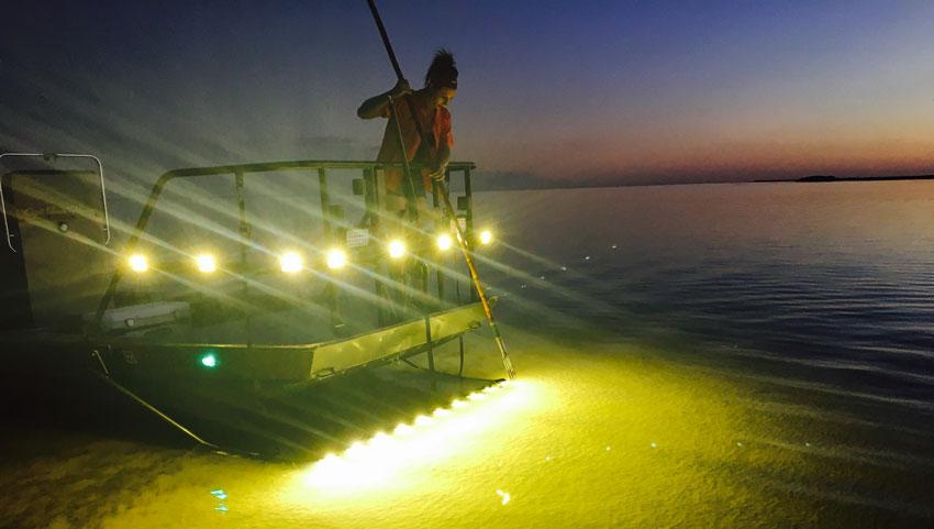 Flounder Gigging In Port Oconner Texas Gofloundering Com